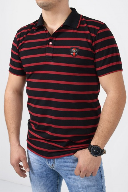 Men's Polo Blouse - Black