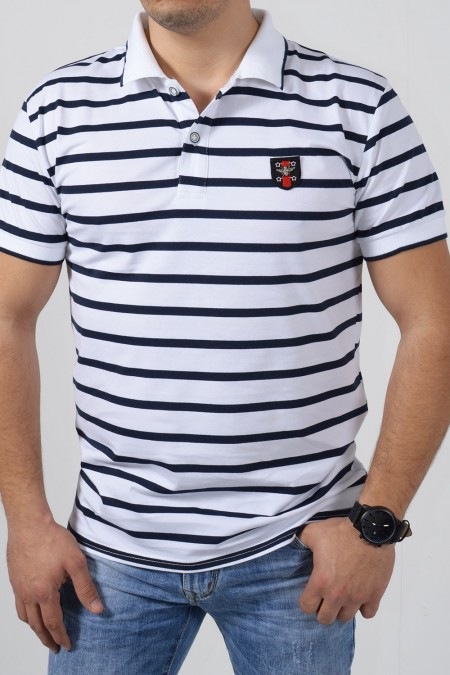 Men's Polo Blouse - White