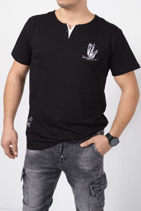 Printed T-Shirt - Black