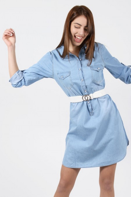 Denim Dress - Light Blue