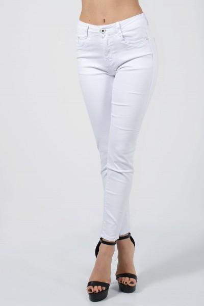 Skinny Τζιν Γυναικειο Λευκό