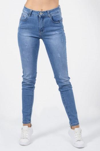γυναικειο παντελονι τζιν ψηλομεσο slim