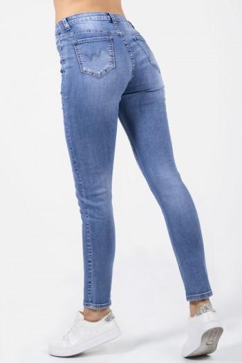 Γυναικείο τζιν παντελόνι slim ψηλόμεσο