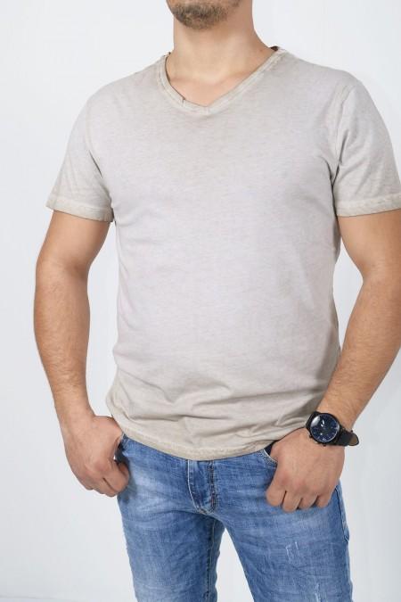 Men's T-Shirt - Beige