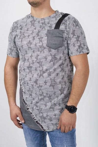 Ανδρική μπλούζα, κοντομάνικη με αστέρια