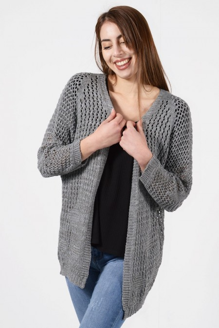 Knitted Cardigan - Grey