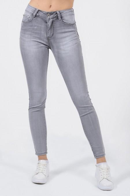 Skinny Τζιν παντελόνι γυναικείο γκρι