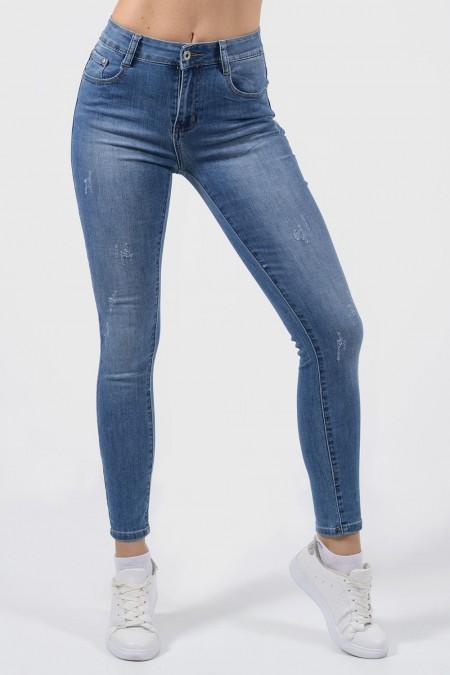 Denim Jeans High Waisted