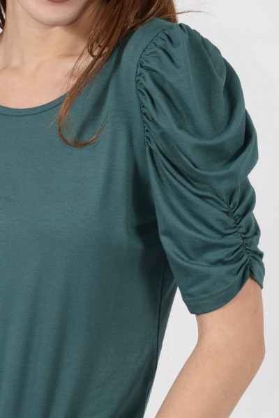 Short Sleeve Blouse - Green