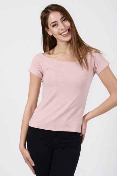 Rib Blouse - Pink
