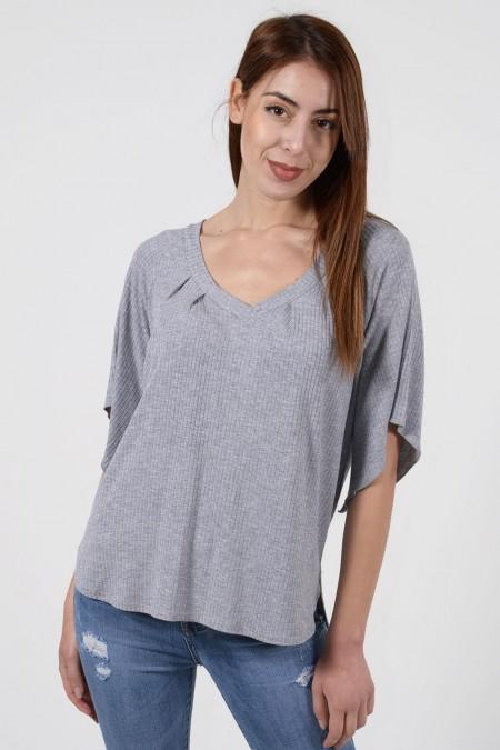 Asymmetric Blouse - Grey