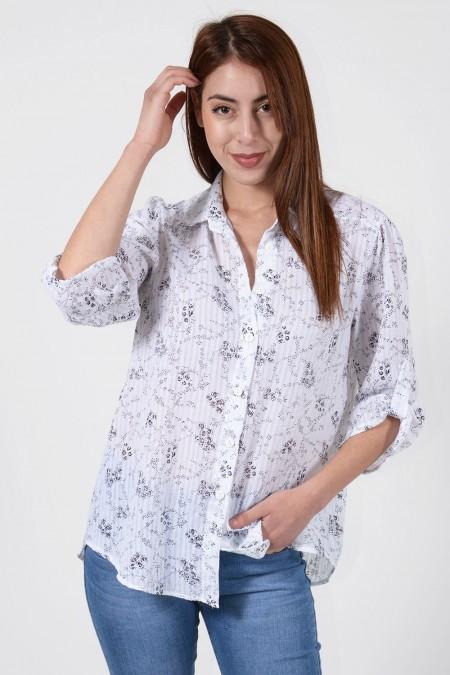 Printed Shirt - White