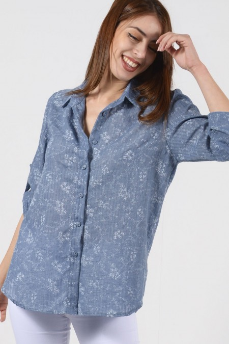 Printed Shirt - Blue