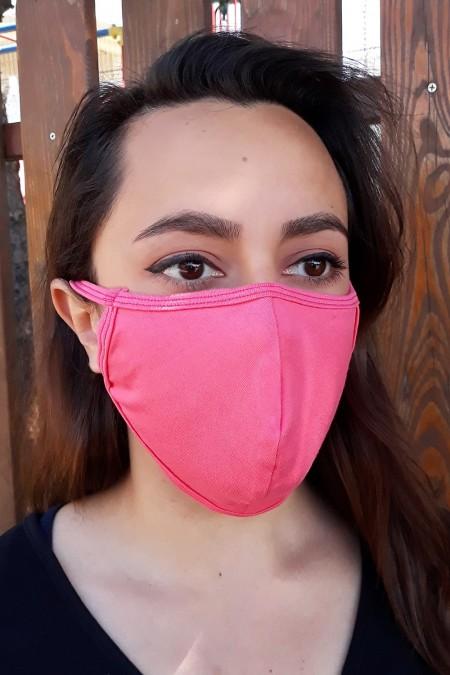 Μάσκα Γενικής Χρήσης Υφασμάτινη Πλενόμενη Ελληνική Ροζ