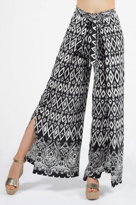 Παντελόνα με Άνοιγμα - Ασπρόμαυρο