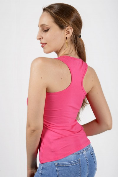 Γυναικείο μπλουζάκι με αθλητική πλάτη Φούξια