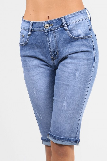 Capri Jeans Distressed