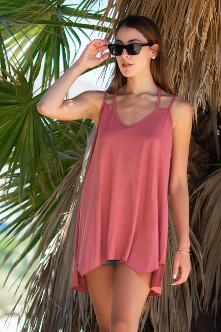 Asymmetric Top - Dusty Pink