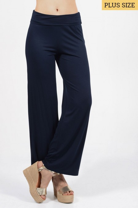 Wide Pants - Dark Blue