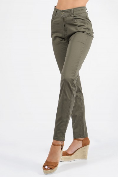 Straight Trousers - Khaki