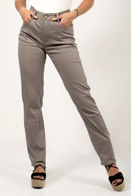 Straight Trousers - Beige