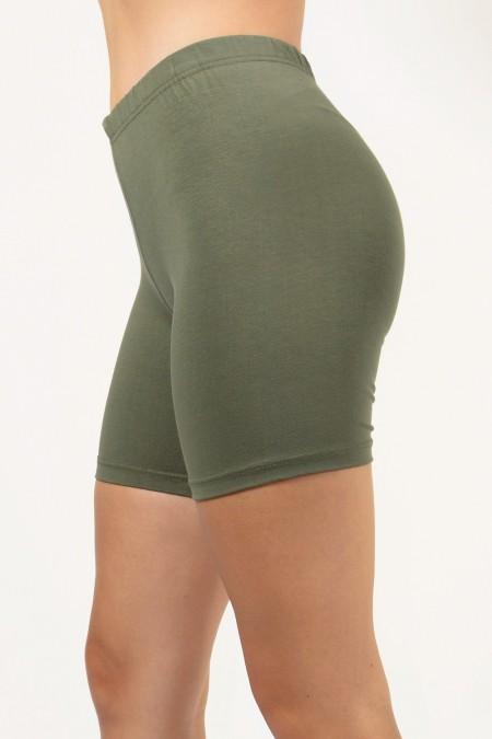 Short Leggings - Olive Green