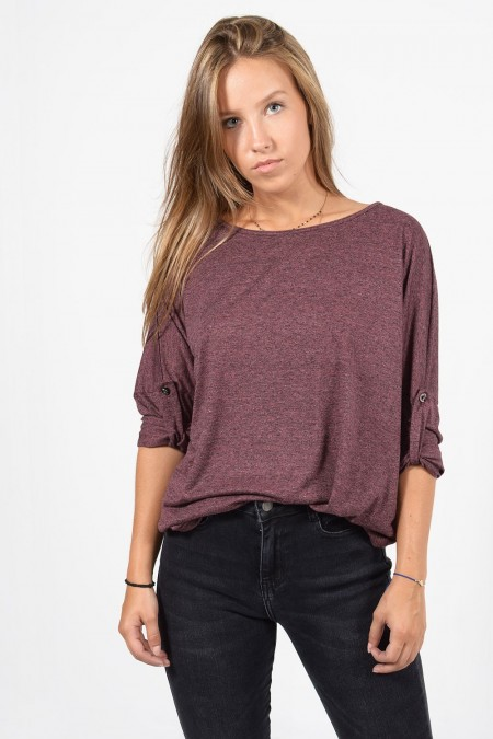 Long Sleeve Blouse - Puce