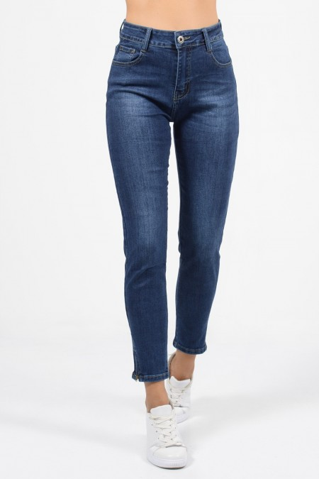 Denim Jeans with Zipper