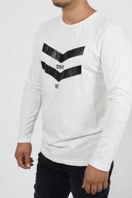 Μακρυμάνικη Μπλούζα B - Εκρού