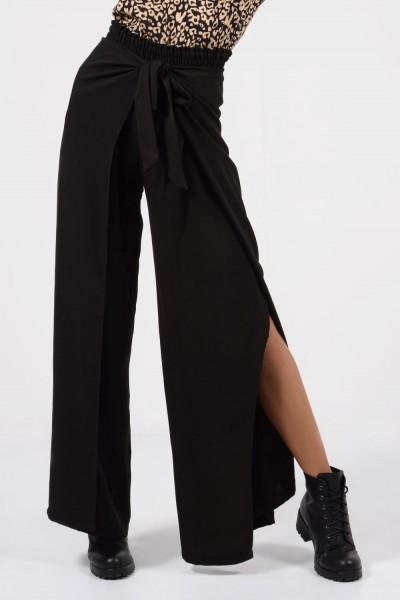 Παντελόνα με Άνοιγμα - Μαύρο