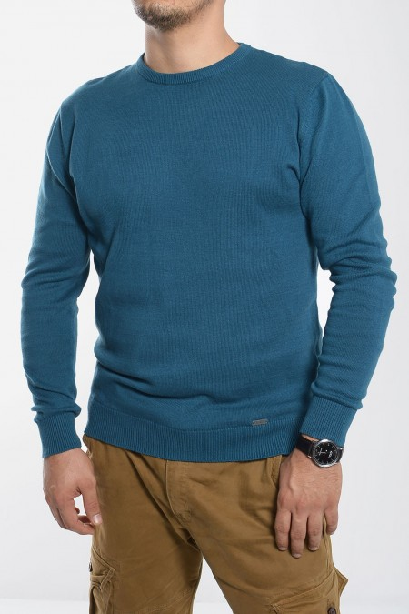 Men's Knitted Top - Petrol