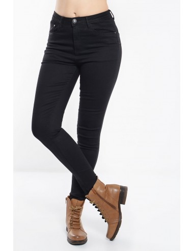 Γυναικείο ανορθωτικό παντελόνι σε μαύρο χρώμα και skinny εφαρμογή.