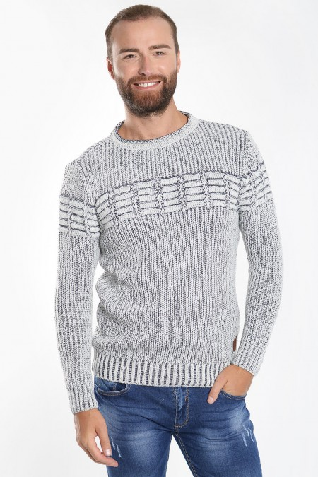 Men's Knitted Sweater - Grey