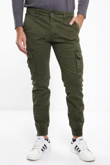 Men's Cargo Trousers - Khaki