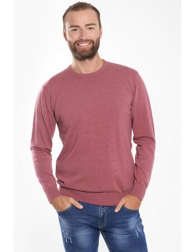 Λεπτή ανδρική μπλούζα ροζ