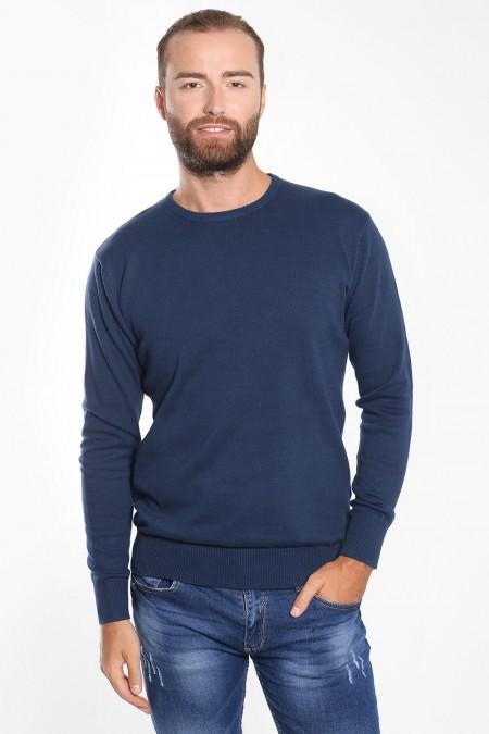 Λεπτή ανδρική μπλούζα μπλε