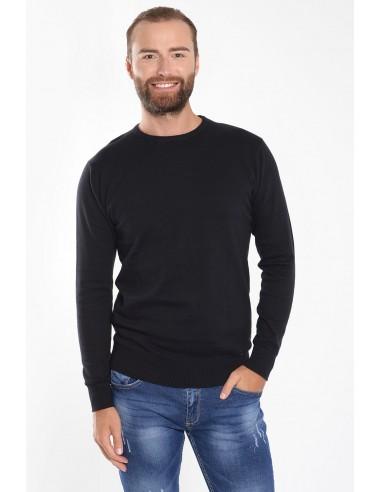 Λεπτή ανδρική μπλούζα μαύρη