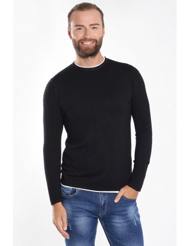 Ανδρική Μπλούζα Πλεκτή - Μαύρο