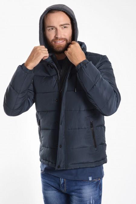 Men's Puffer Jacket  - Blue